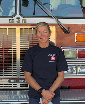 Volunteer Firefighter Jenny Konway